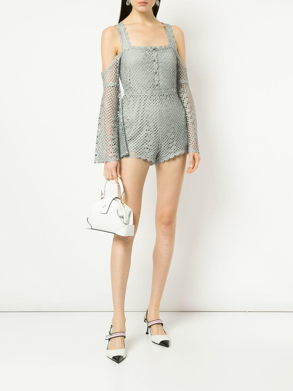 8e2e285f16 Lyst - Alice McCALL Follow Me Playsuit in Gray