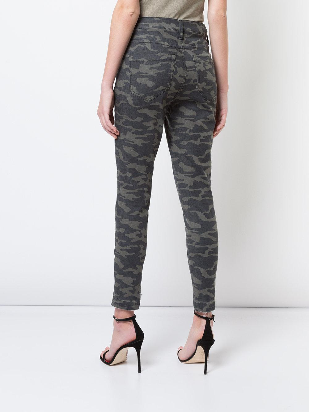 camouflage print jeans - Grey Nicole Miller OggkeuOq