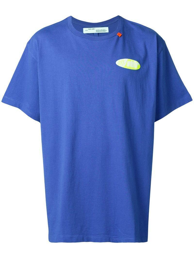 1e8f2fe6f564 Lyst - Off-White c o Virgil Abloh Arrows T-shirt in Blue for Men