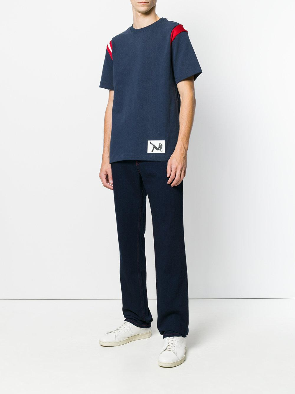 Buy Cheap Price T-shirt with contrast shoulders - Blue Calvin Klein Jeans Outlet Where To Buy WTJPOzT