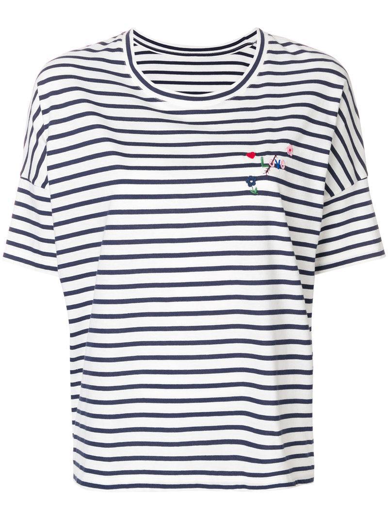 Chinti & Parker Striped print T-shirt cfOBD5G4s