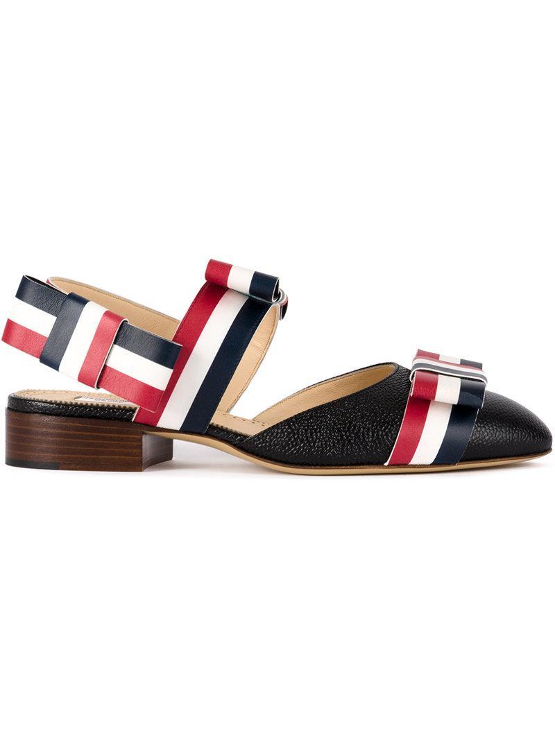 striped platform sandals - Black Thom Browne PbtAvA