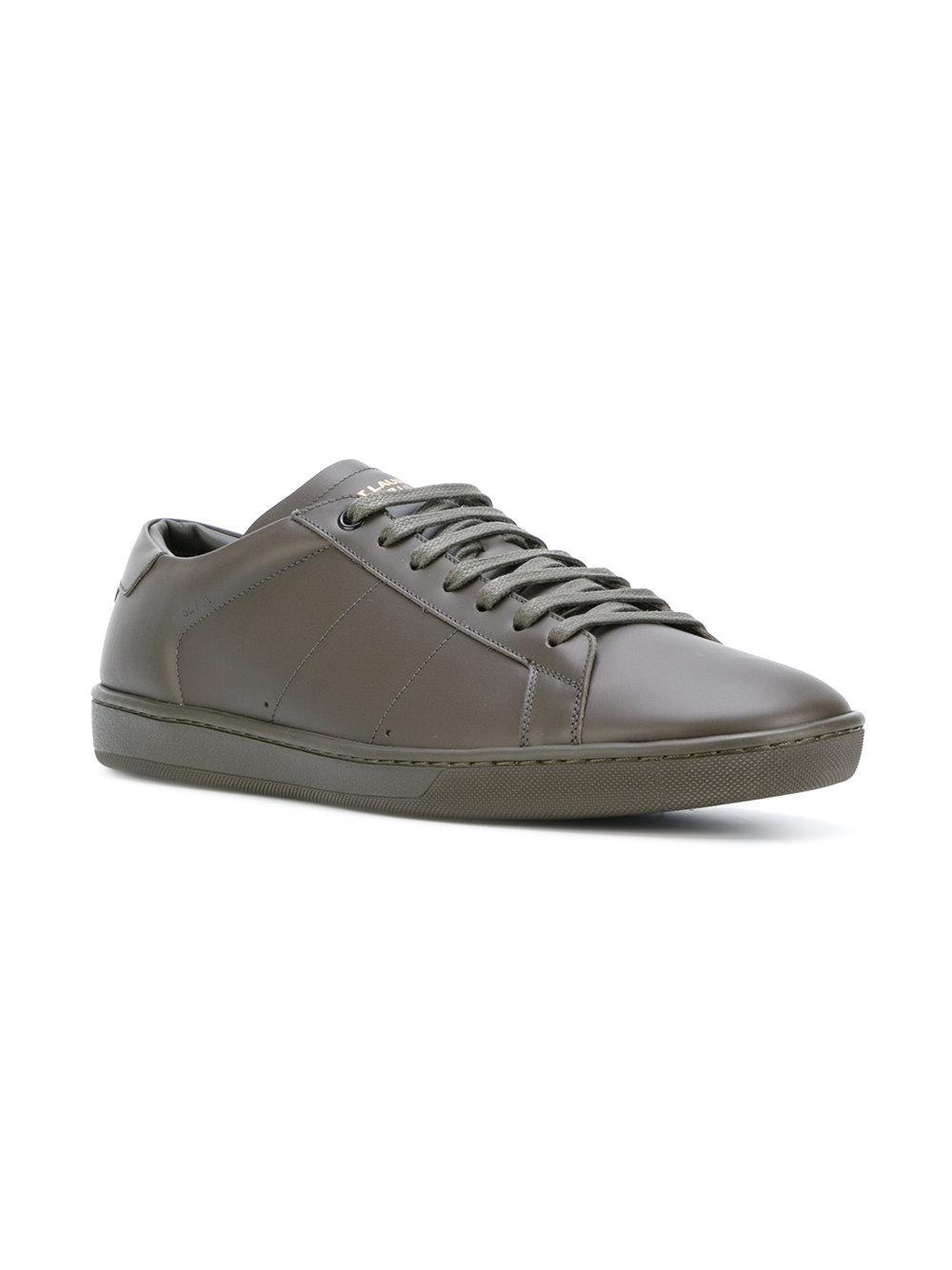 22bc1daae813 Lyst - Saint Laurent Signature Court Classic Sl 01 Sneakers in Green for  Men - Save 38%