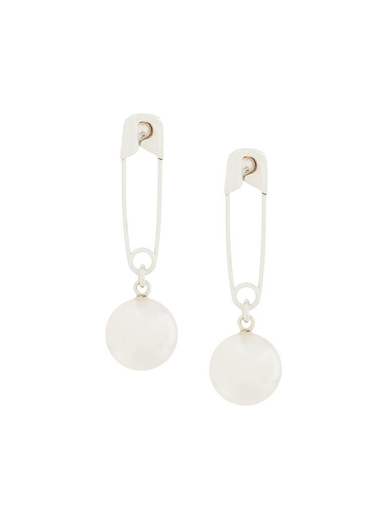 Wouters & Hendrix My Favourite freshwater pearl stud earring - Metallic 1vhS2HSrY7