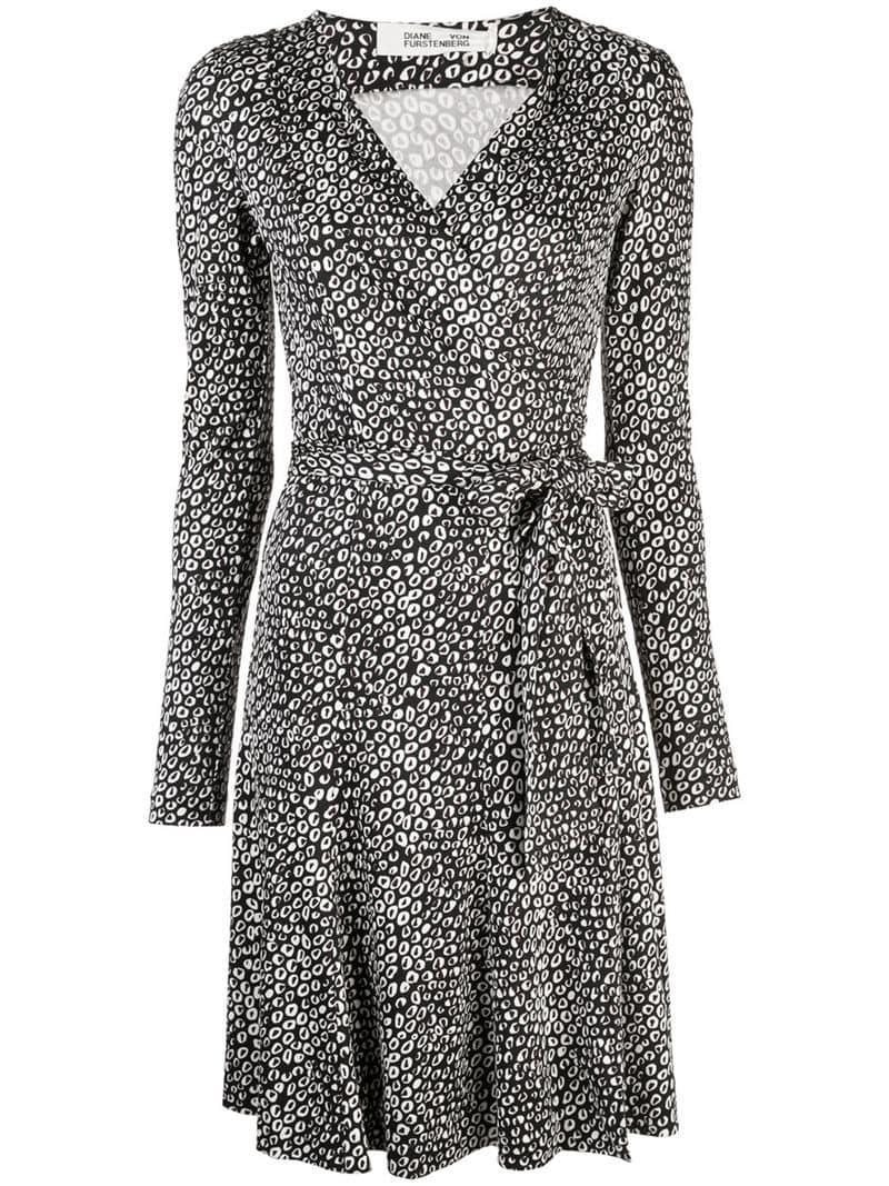 f652369b1560 Diane von Furstenberg Julian Jersey Wrap Dress in Black - Lyst
