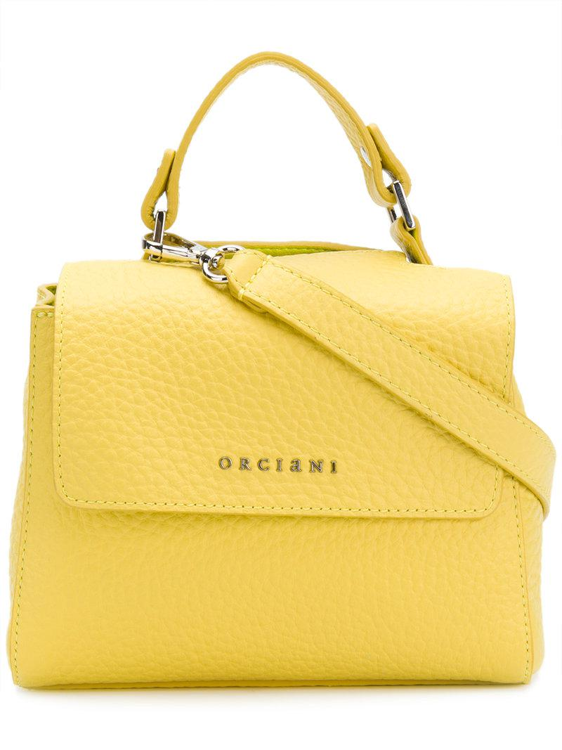 small pebbled leather shoulder bag - Yellow & Orange Orciani Recommend Cheap Online Where Can I Order Best Authentic For Nice Sale Online Cheapest For Sale 3T4tke4