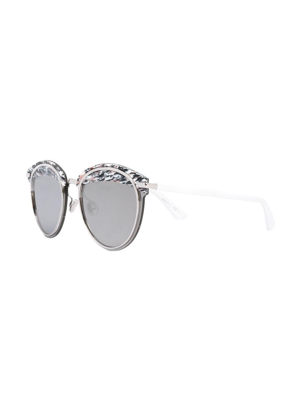 Lunettes Lunettes Lunettes Rondes En Blanc Dior Coloris Lyst De Soleil  Td8wTqt 010e28f259ca
