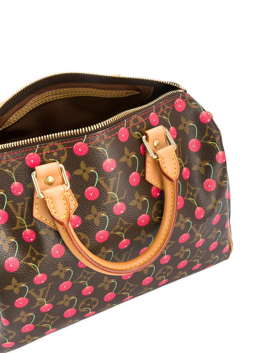 f4790374ea52 Lyst - Louis Vuitton Speedy 25 Cherry Monogram Bag in Brown