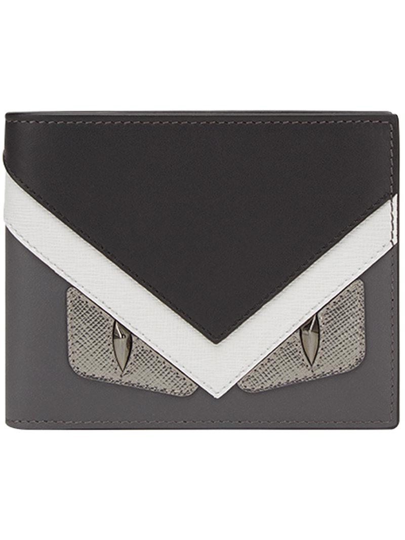 36b00c06c3 Lyst - Fendi Tricolor Bag Bugs Wallet in Black for Men - Save 56%