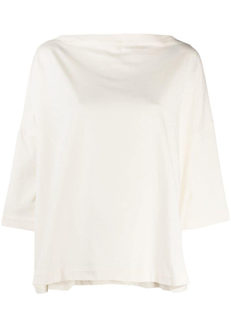 46e45b4c9f0 Lyst - Daniela Gregis Wide Sleeved Blouse in White