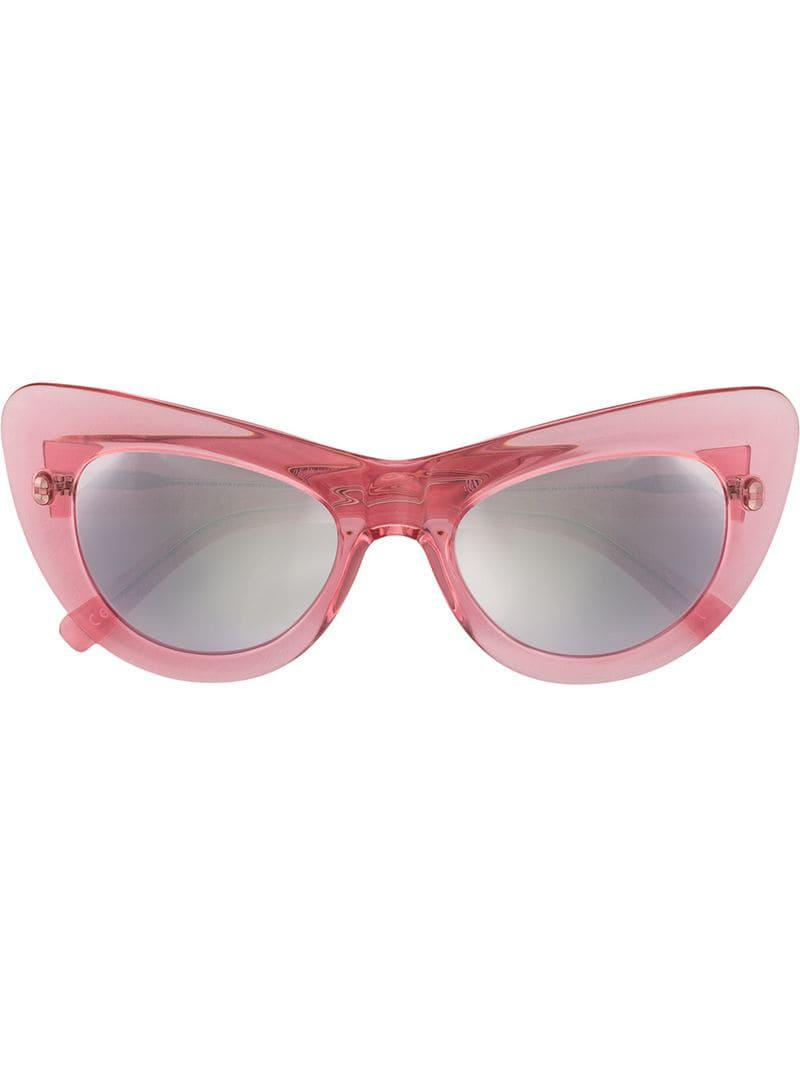 2ad2150849 Andy Wolf Oversized Cat Eye Sunglasses in Pink - Save 3% - Lyst