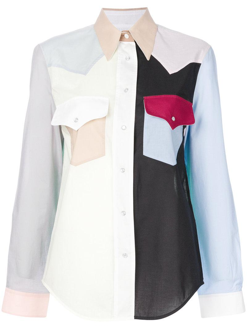 Shop Offer colour-block western shirt - Multicolour CALVIN KLEIN 205W39NYC Shopping Online Outlet Sale Release Dates For Sale Clearance Very Cheap MFGZMTJq
