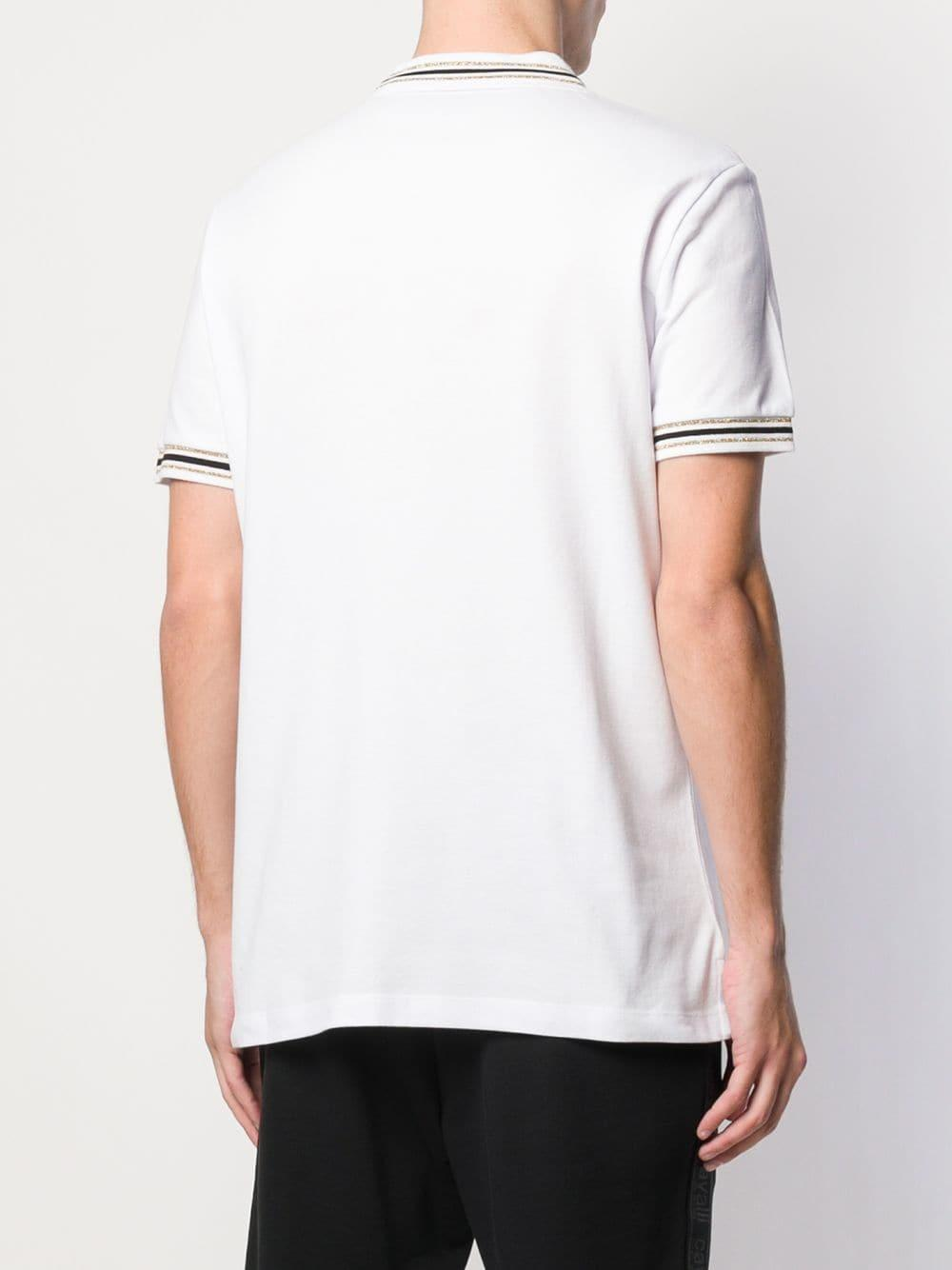 f950eefa Class Roberto Cavalli - White Snake Logo Polo-shirt for Men - Lyst. View  fullscreen