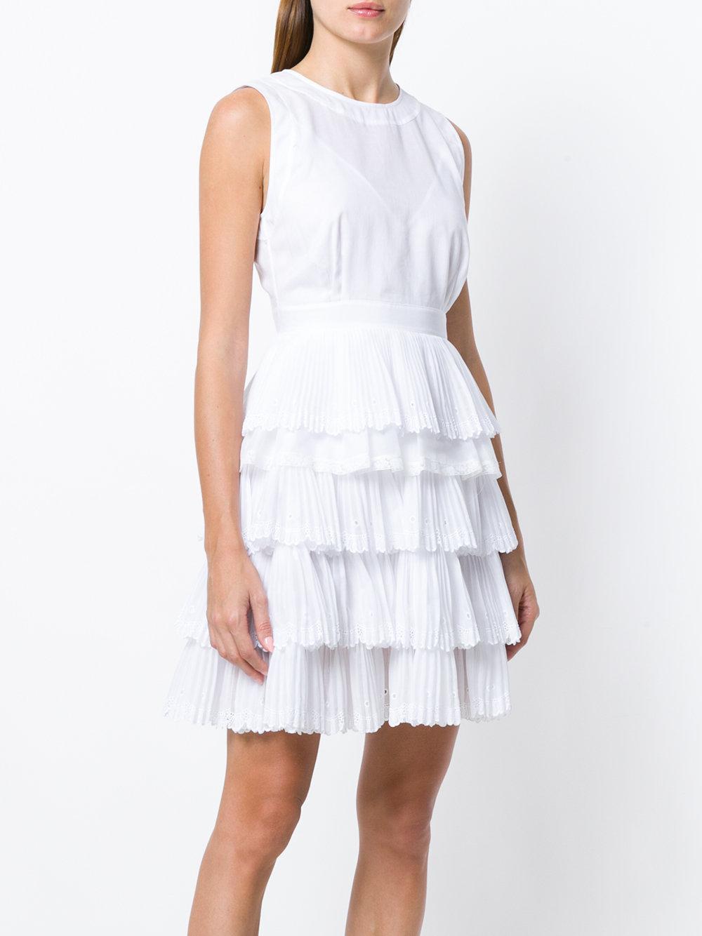 ruffle tiered dress - White N 8q1NUETD