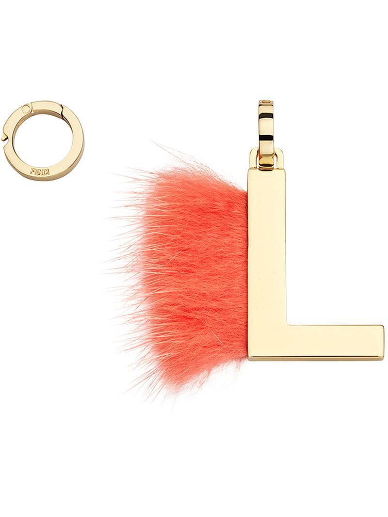 Fendi ABClick L pendant charm - Yellow & Orange 5aXsjOv