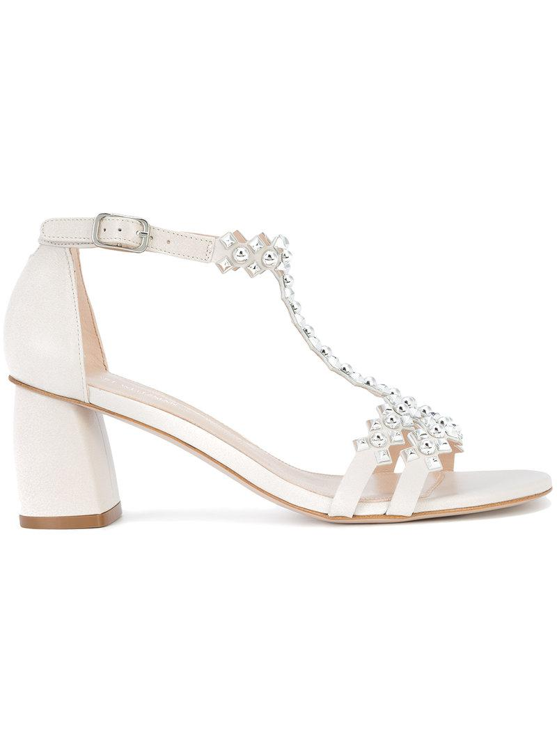 free shipping marketable where to buy Stuart Weitzman Embellished Ankle-Strap Sandals clearance outlet store Z7aY6N74M