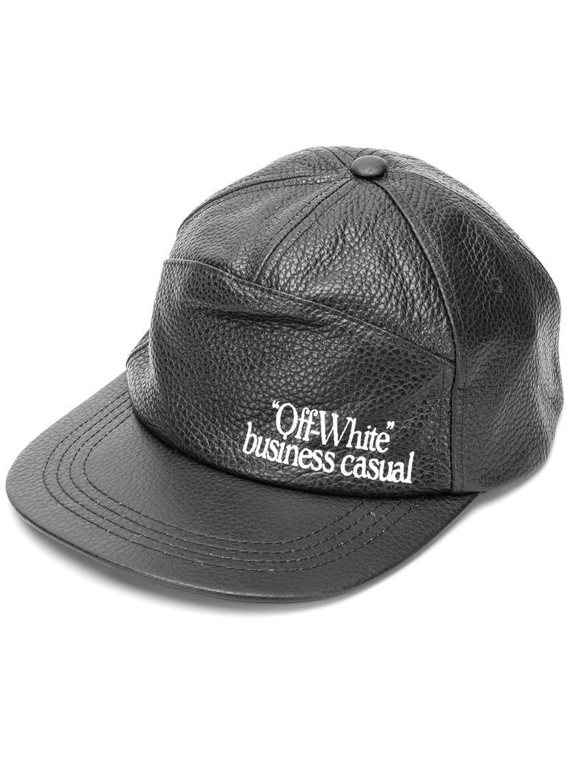 5c792222ac7a76 Off-White c/o Virgil Abloh Business Casual Baseball Cap in Black for ...