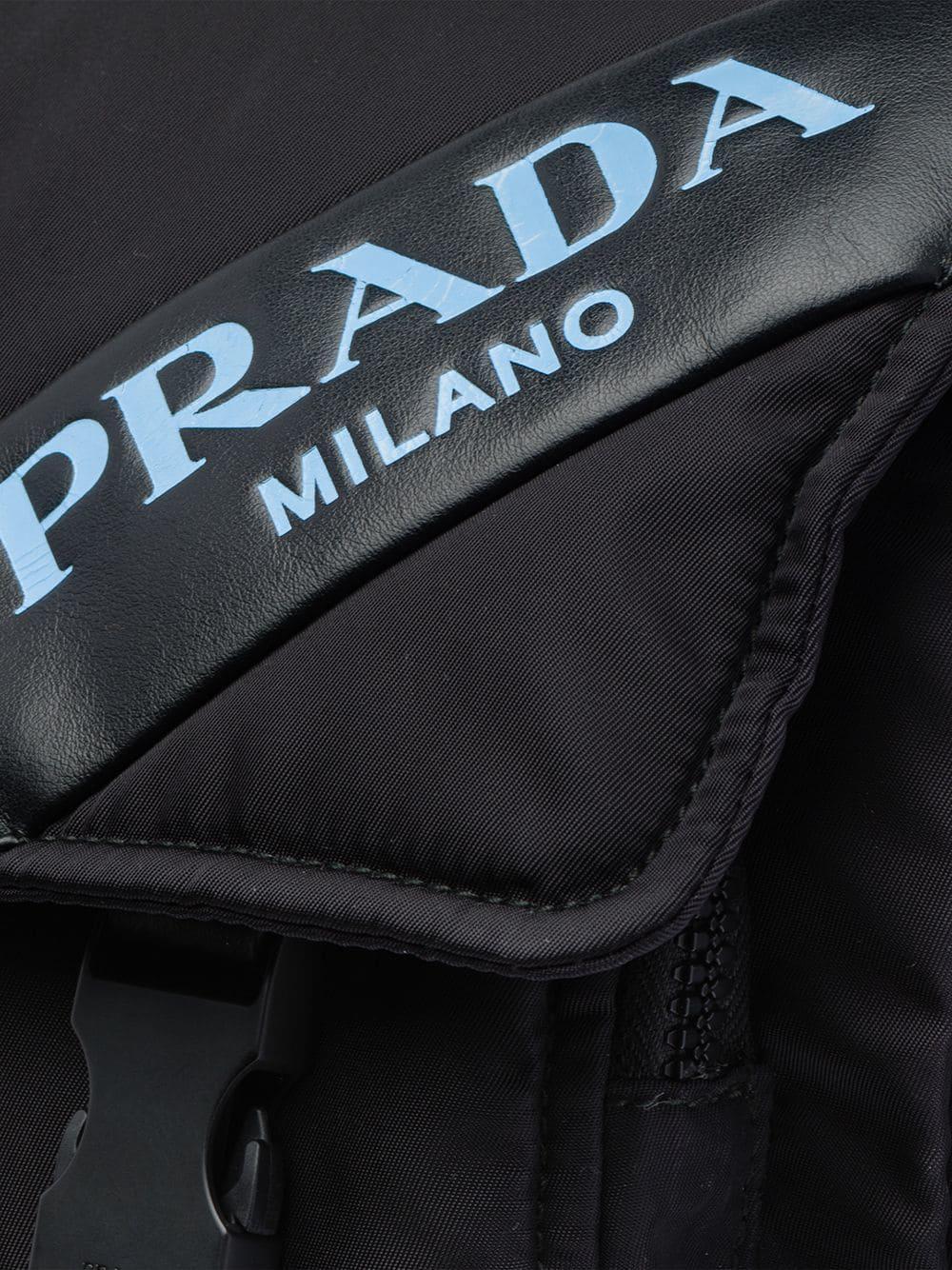 2b3e8f0797691 Prada - Black Padded Belt Bag - Lyst. View fullscreen