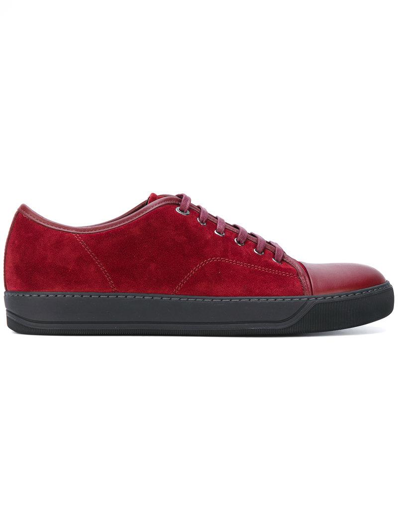 Lanvin Baskets À Lacets - Rouge 35IUA3rAQK