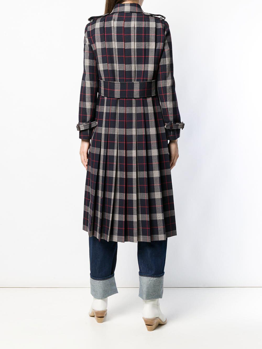 0fc79e16ee45 Gucci - Blue Checked Double Breasted Coat - Lyst. View fullscreen