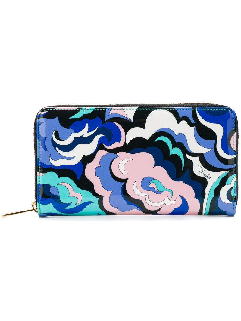 abstract print zipped purse - Blue Emilio Pucci vhwOEwWhyz