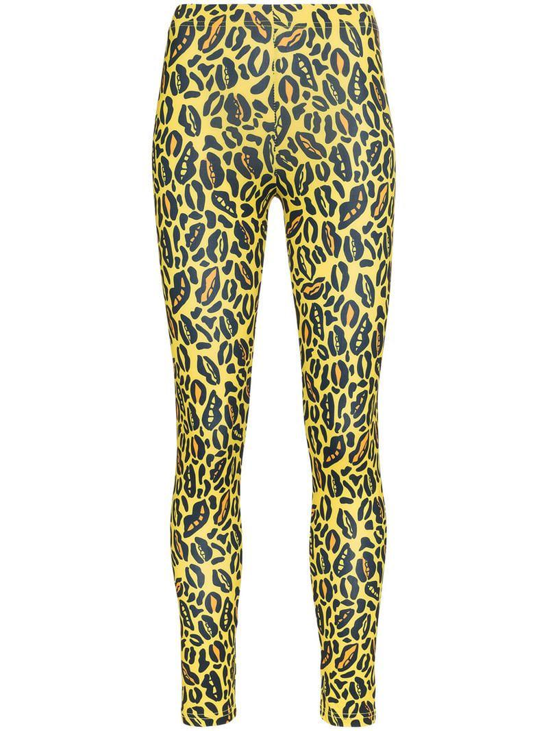 4a91897ce07 Charms Leopard Print Skinny leggings in Yellow - Lyst