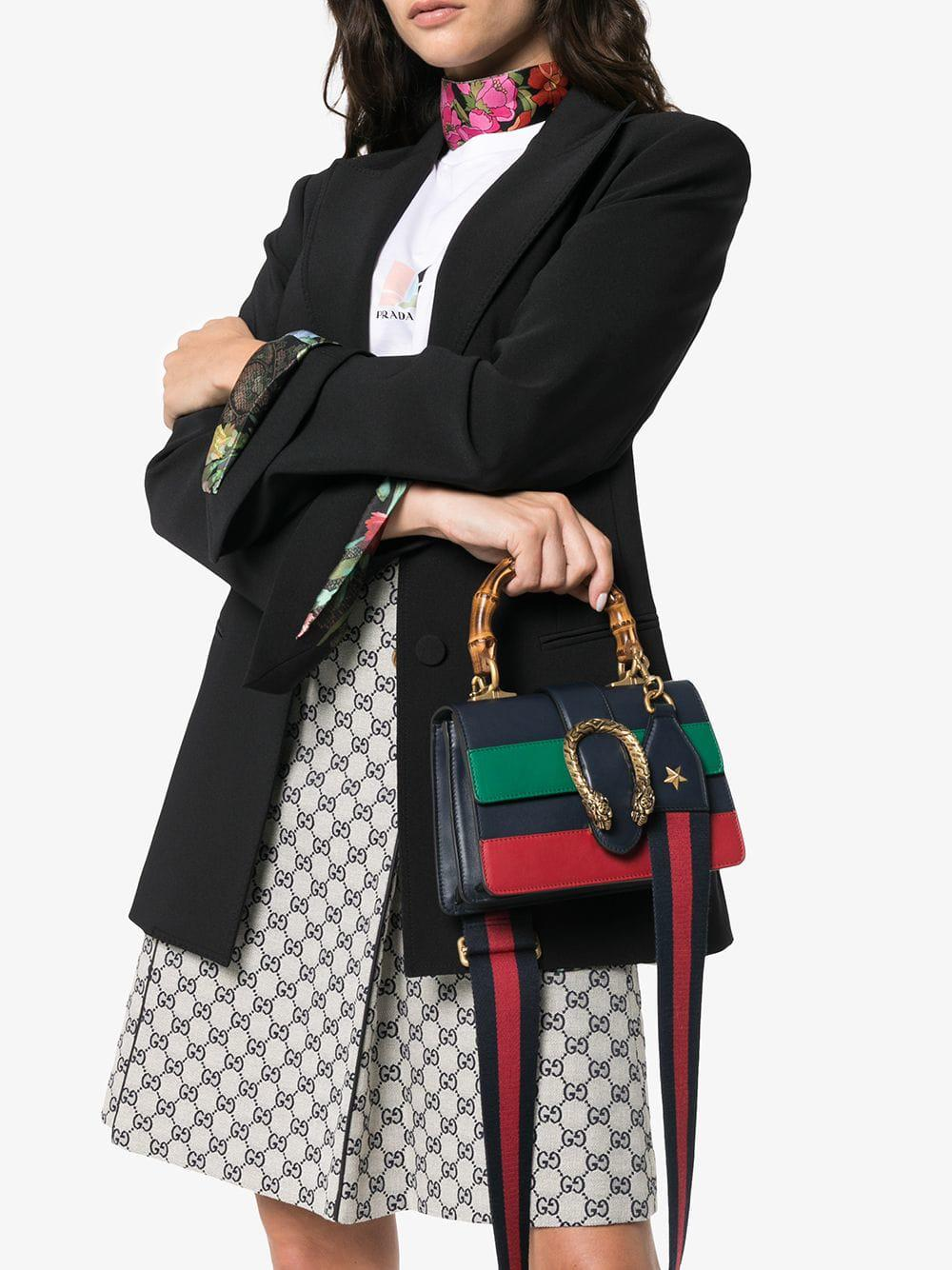 7188eeb0382 Gucci Blue Green And Red Dionysus Mini Top Handle Bag in Blue - Save 34% -  Lyst