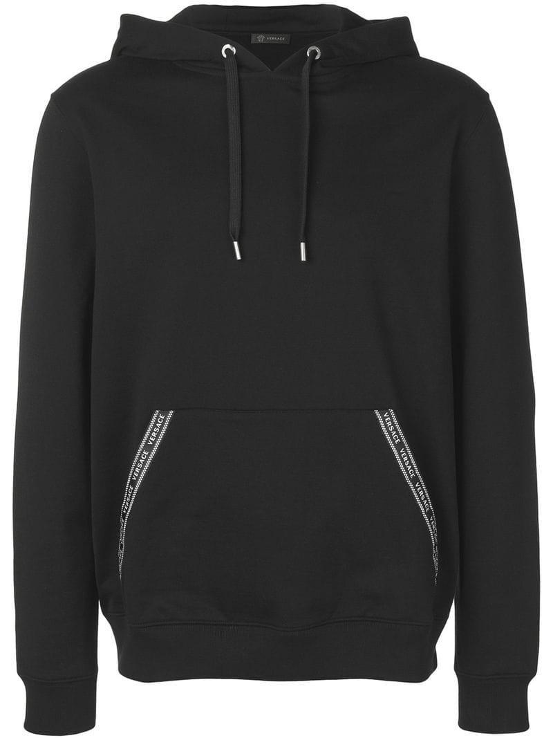 f856e12d Versace Nastro Hoodie in Black for Men - Lyst