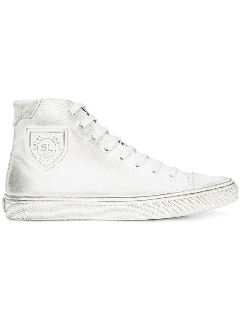 classic lace-up trainers - White Saint Laurent QIt1cpZ