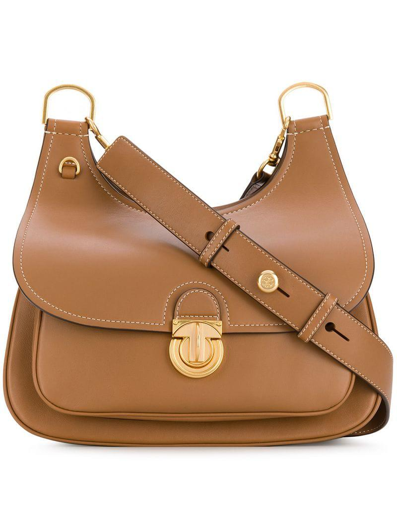 0f98db850544 Tory Burch James Shoulder Bag in Brown - Lyst