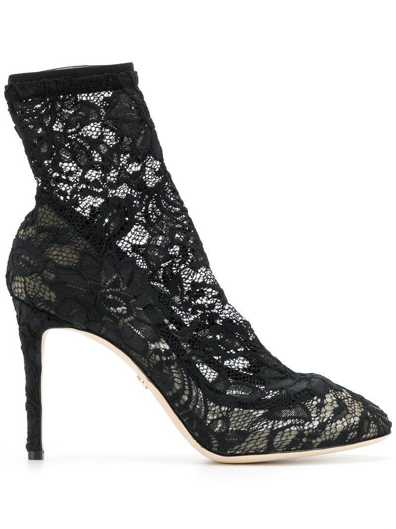 Coloris Noir Lyst Dentelle Dolceamp; Gabbana 50 Bottines En lFu35KJT1c