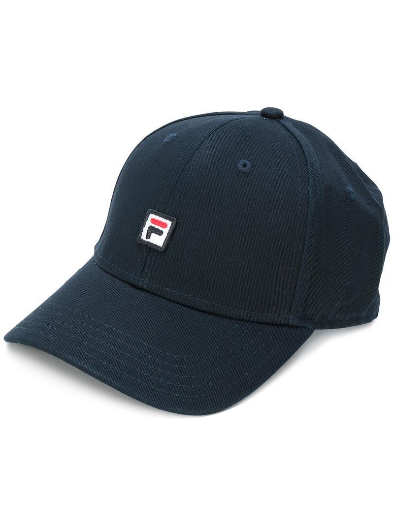 88eb372bd39 Lyst - Fila Logo Cap in Black for Men