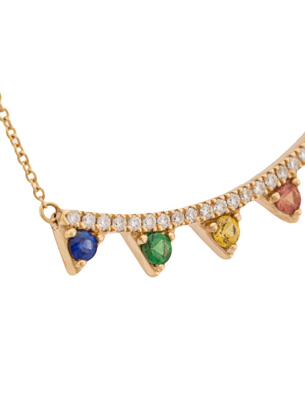 Khai Khai Rainbow Jaws necklace - Metallic jXcLXb