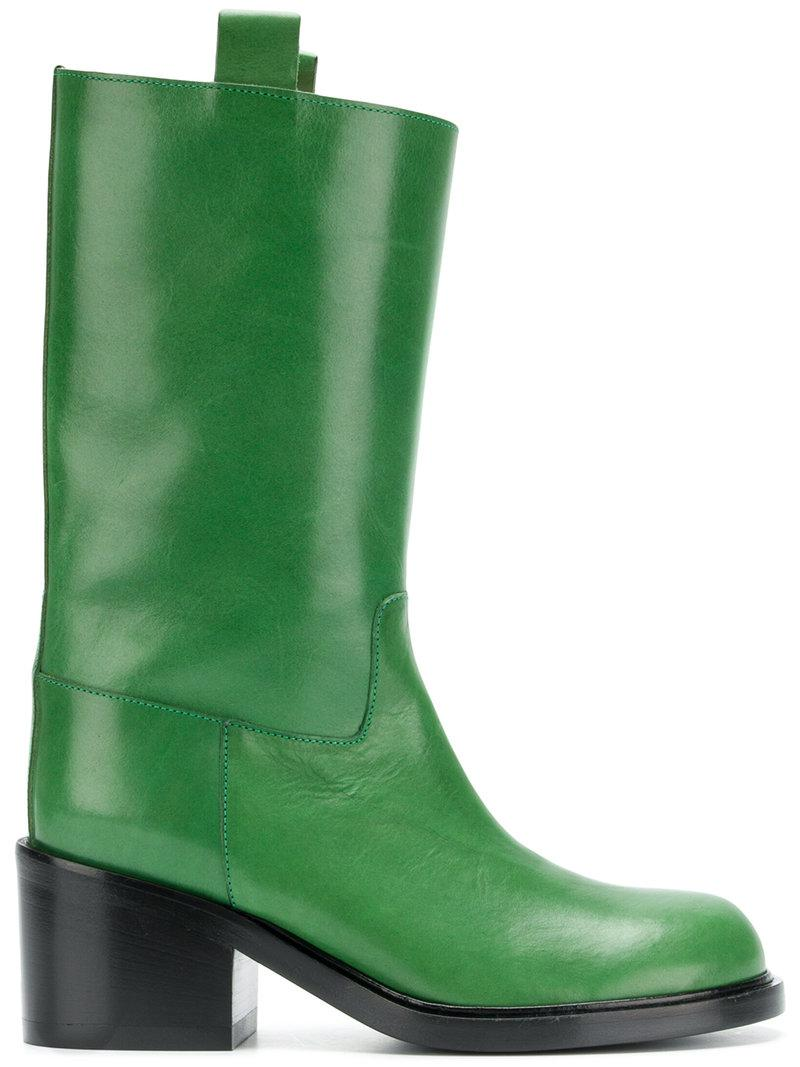 slanted heel knee-high boots - Green A.F.Vandevorst RBV7Ooq
