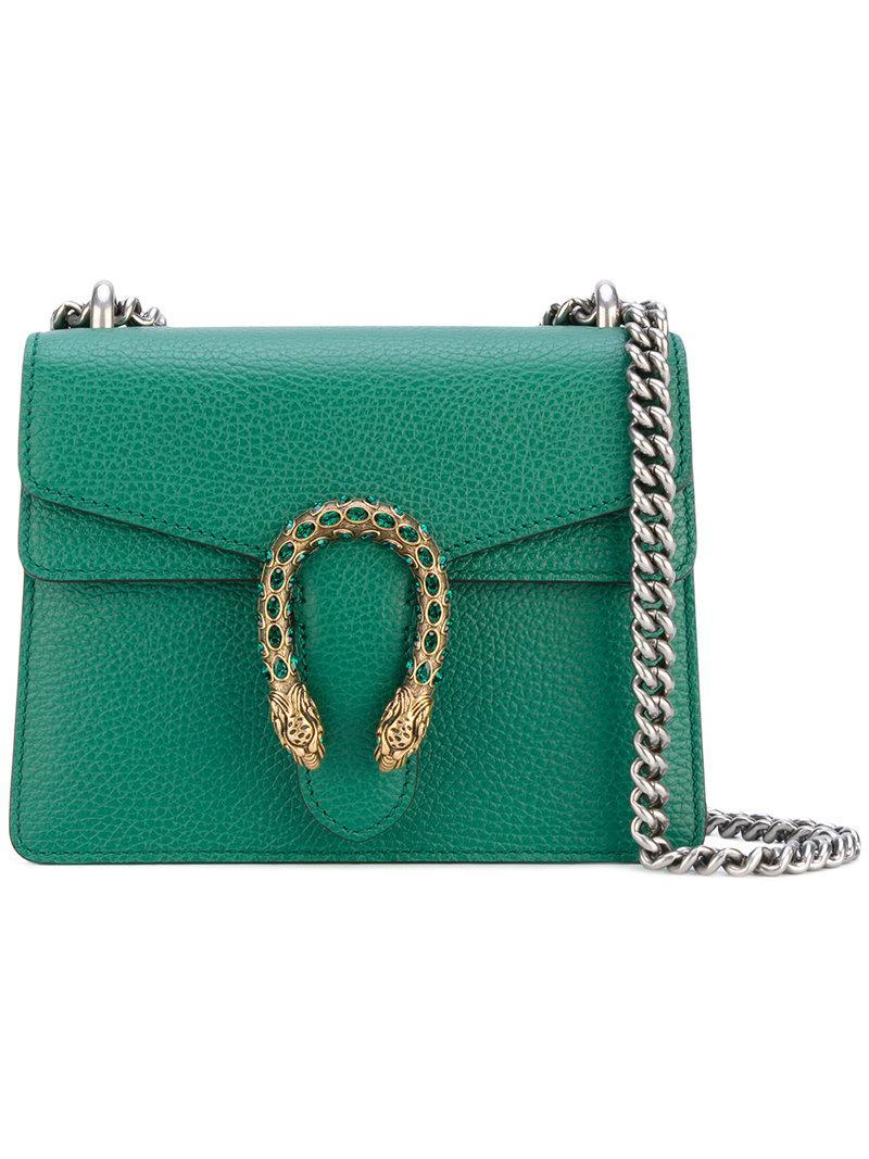 2a498d9f1d2 Lyst - Gucci Dionysus Shoulder Bag in Green