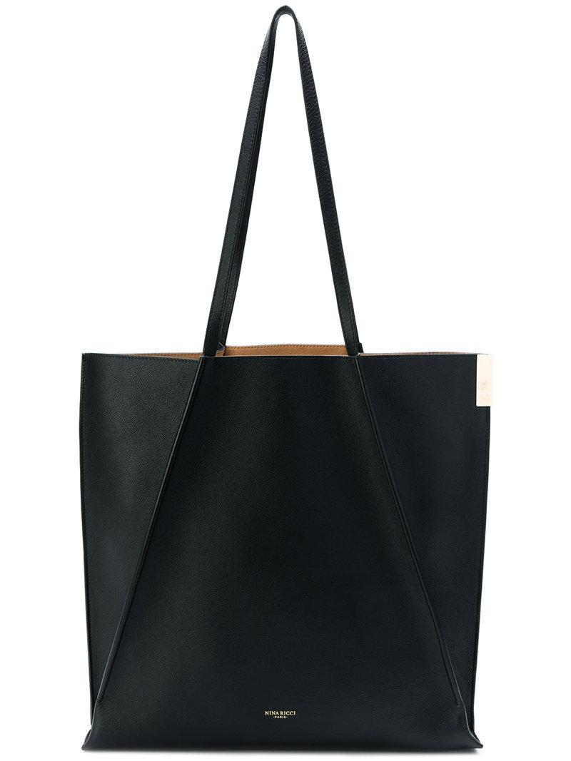 bbabe3845b Lyst - Sac cabas à design géométrique Nina Ricci en coloris Noir