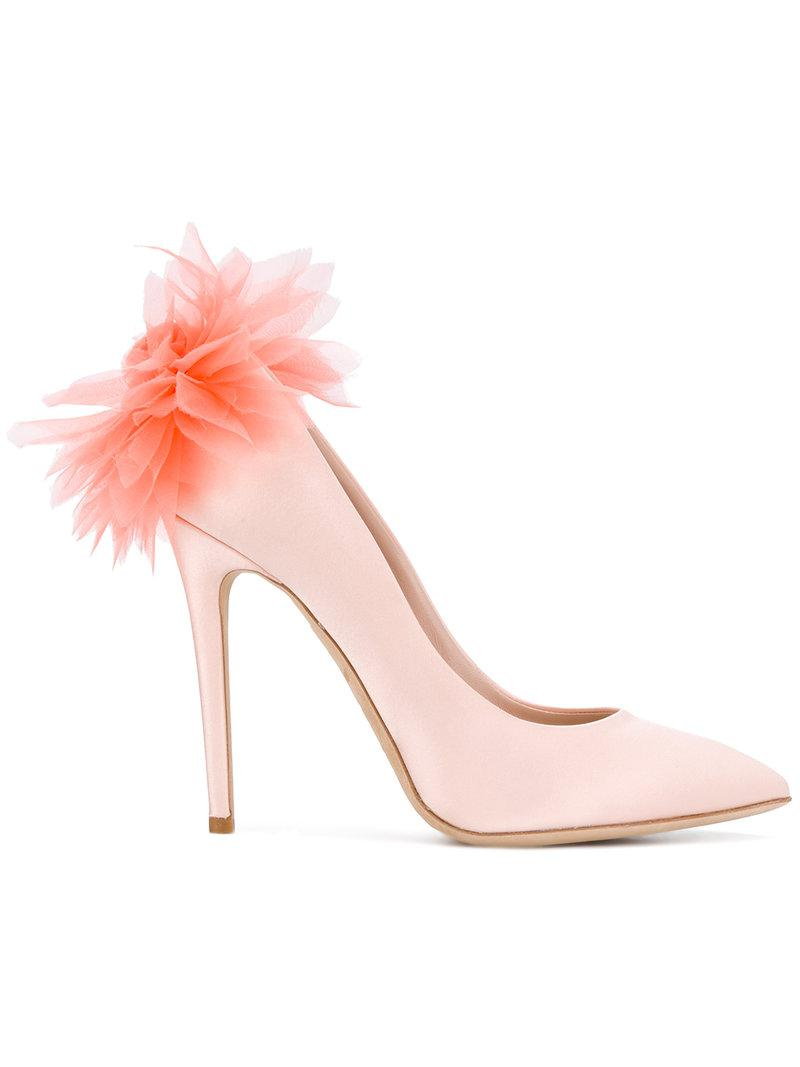 feathered pumps - Pink & Purple Olgana Paris LjXRF8oU