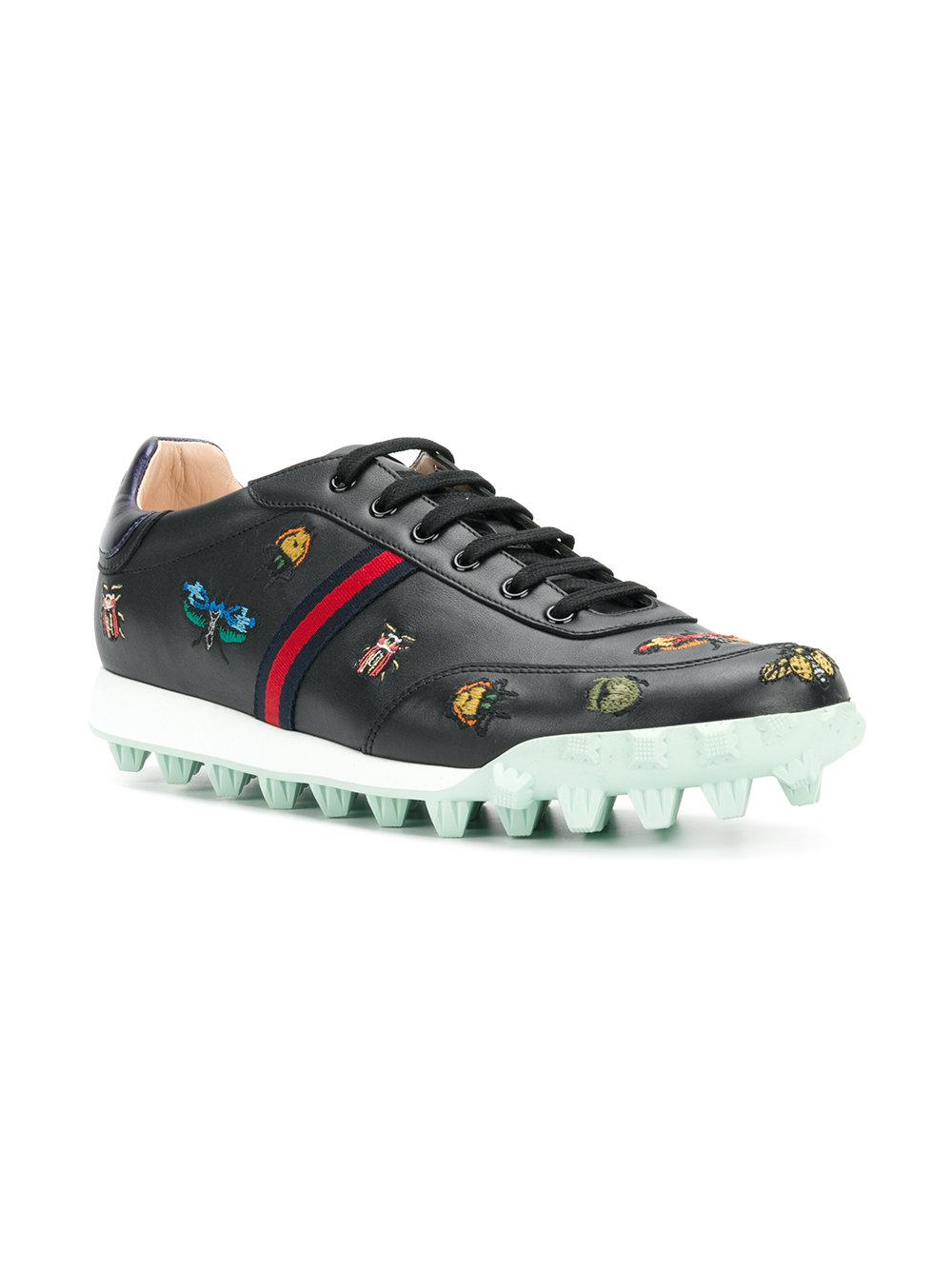 Yell low-top embroidered sneakers - Black Gucci IRwBvl