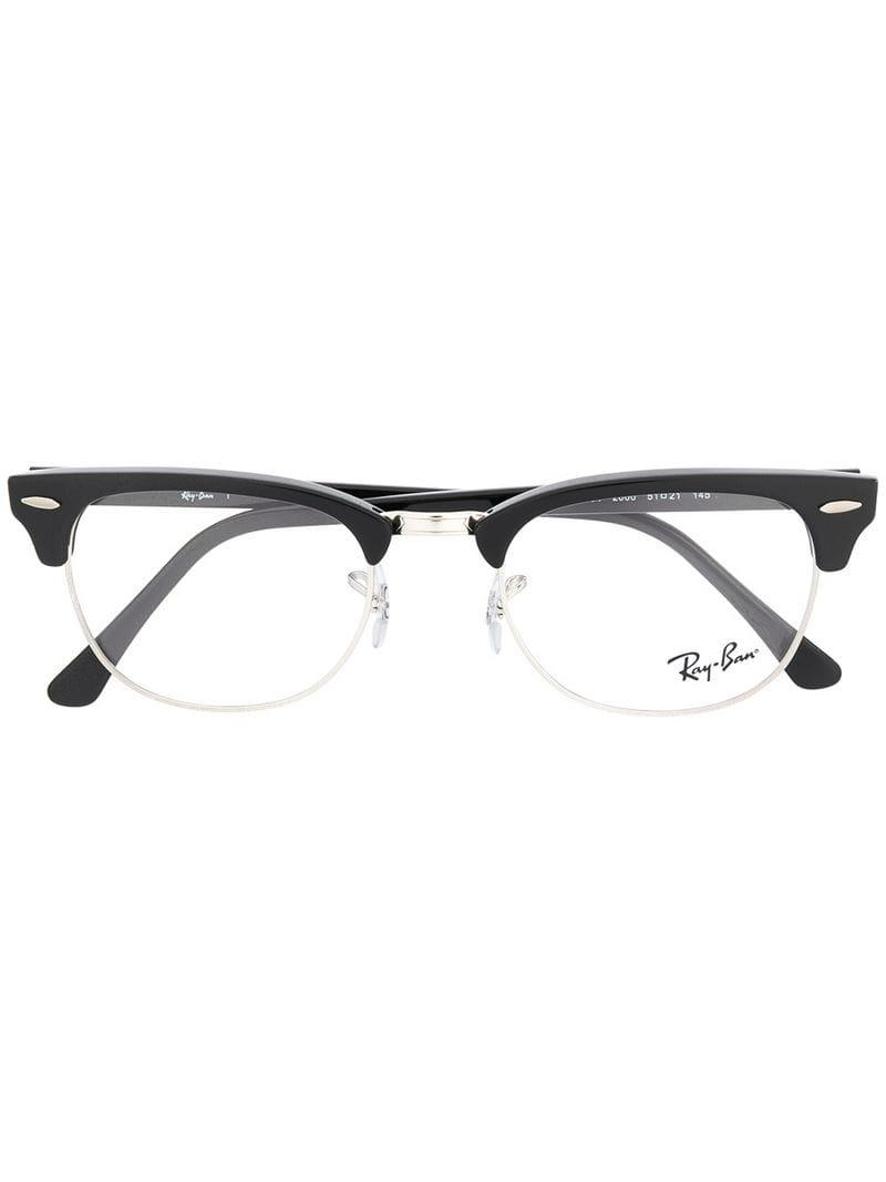 25995e803a Ray-Ban Clubmaster Glasses in Black - Lyst