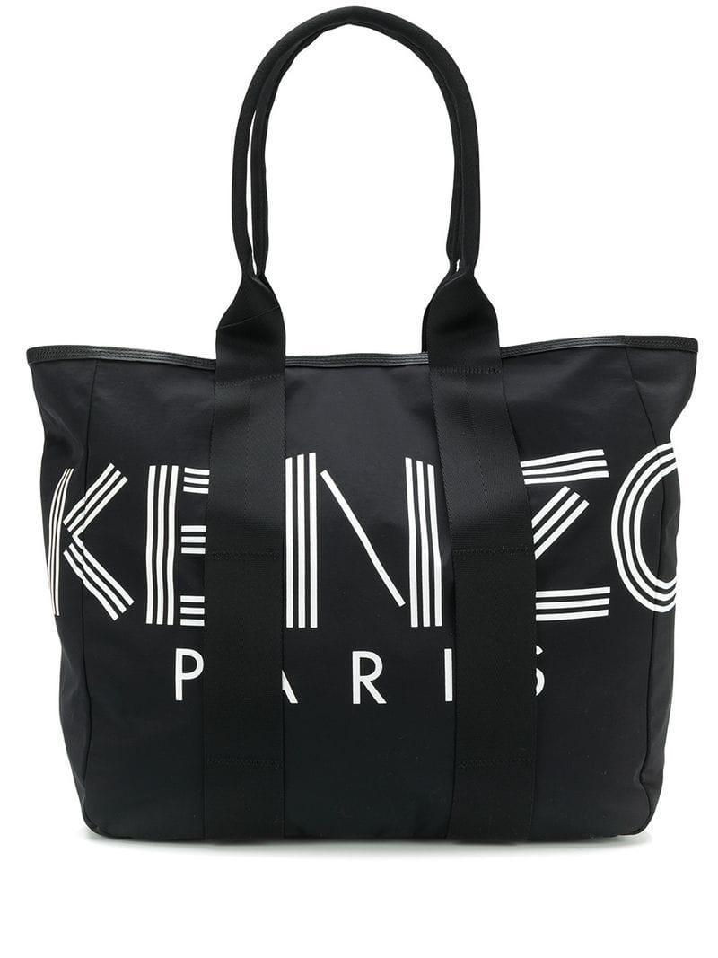 e11b913c468f6 KENZO - Black Logo Shopper Tote Bag for Men - Lyst. View fullscreen