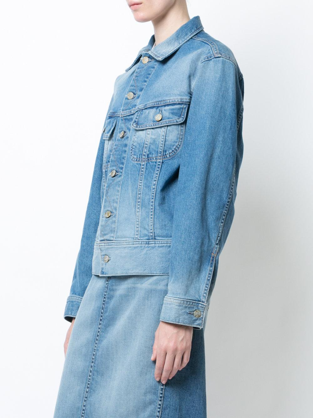 Oscar de la Renta appliqué detail denim jacket Limited Edition Sale Online 51h99BH