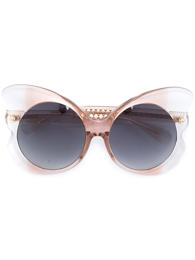 a0edc936914 Lyst - Linda Farrow 143 C3 Butterfly Sunglasses