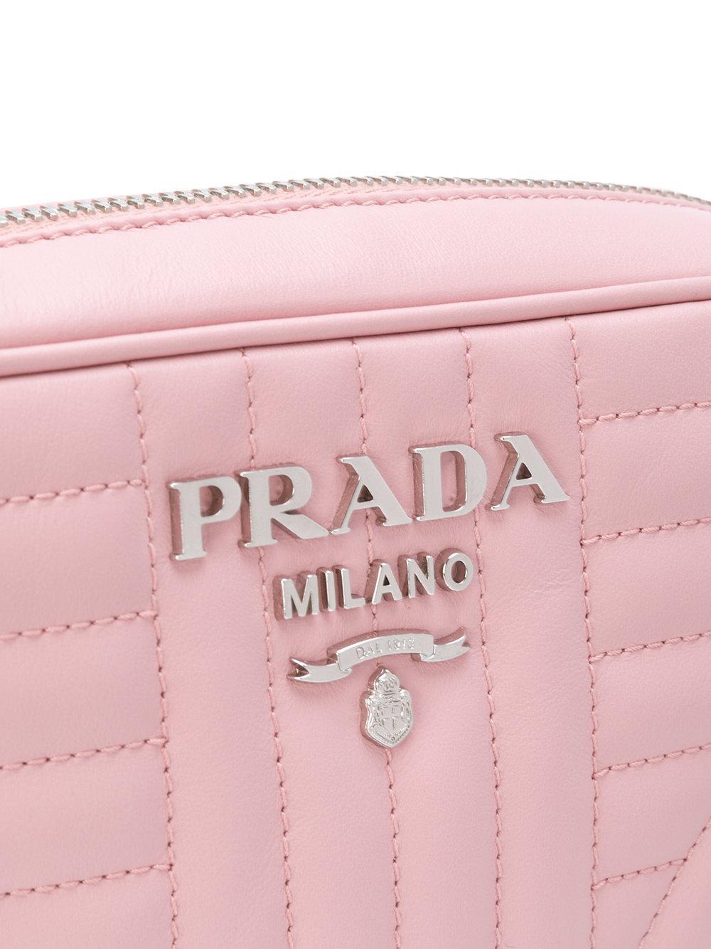 1c26c6222884 ... australia shoulder bag black prada f0830 e2b26 netherlands lyst prada  diagram disco step bag in pink