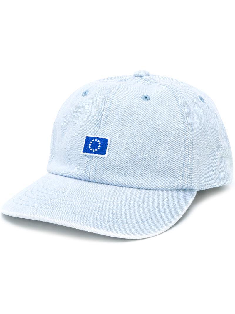 Etudes Studio Still Europa Denim Cap in Blue for Men - Lyst 1fadc3088dbc