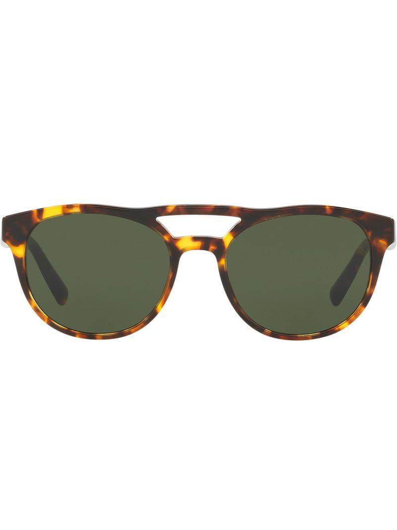 2d8e0c5a2bf Prada Round Shaped Sunglasses in Brown for Men - Lyst
