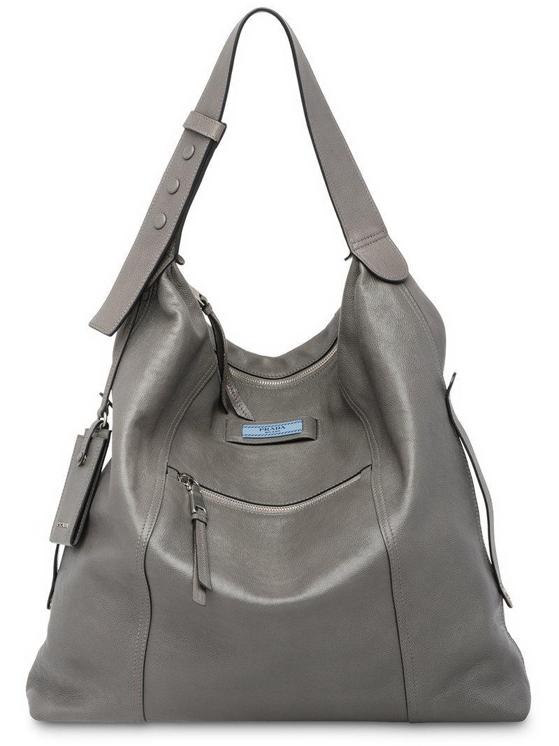 ace0d2dfd232 Lyst - Prada Etiquette Shoulder Bag in Gray