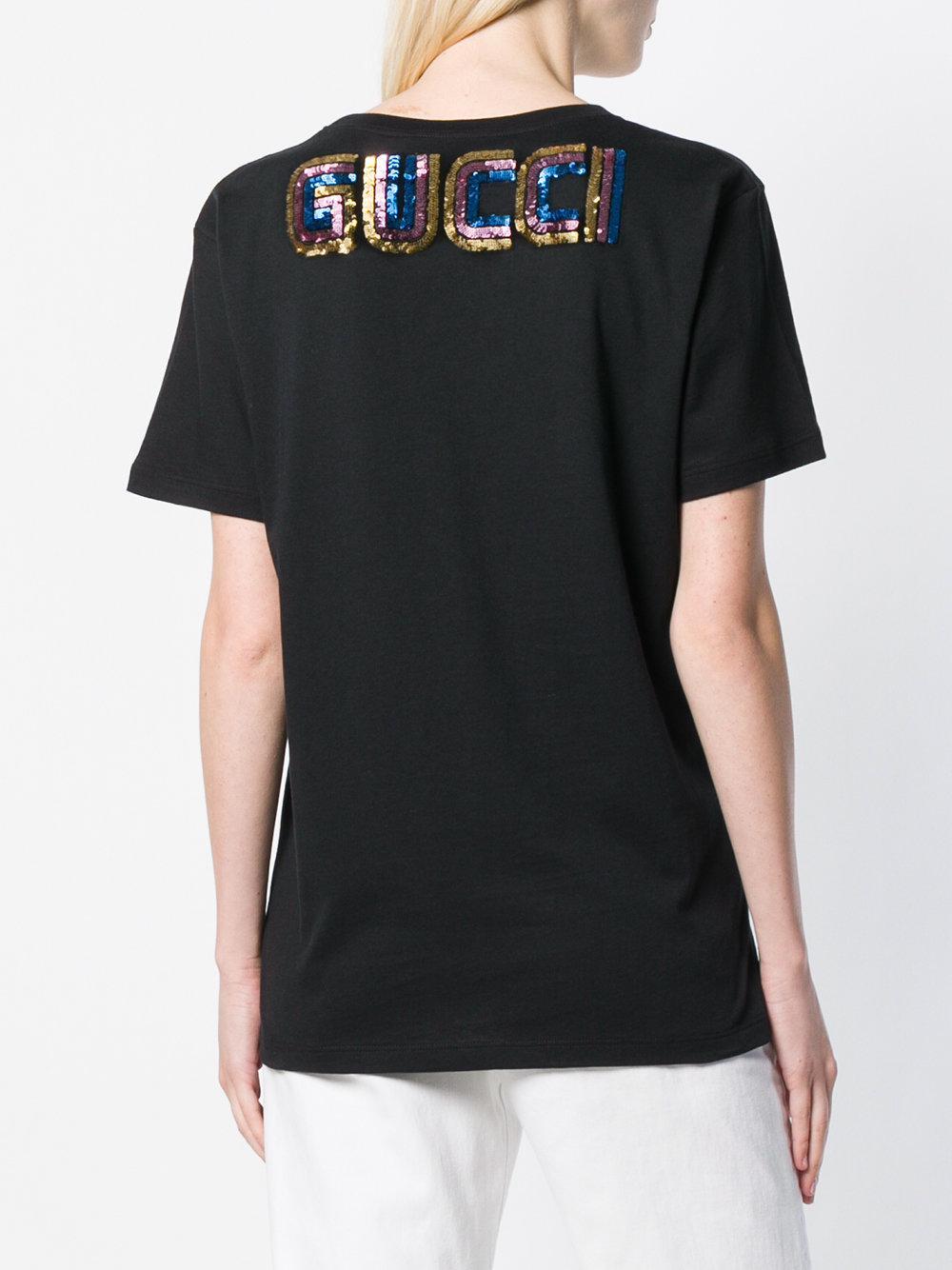 b833df7d05 Gucci Maison De L'amour Printed T-shirt in Black - Save 31% - Lyst