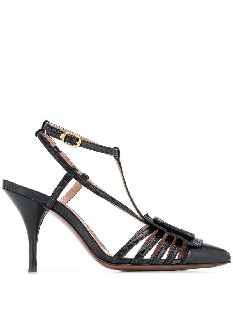 55dbcdba43c Lyst - L Autre Chose Strappy Slingback Heeled Sandals in Black
