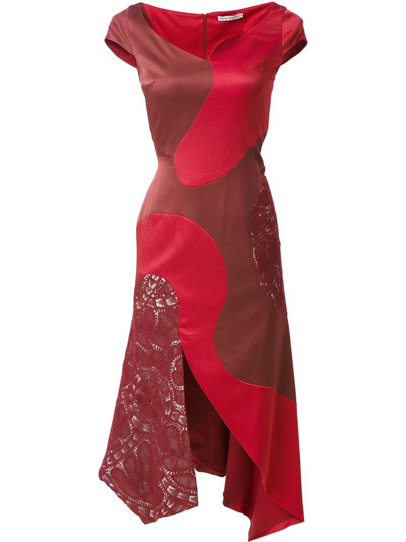Martha Medeiros panelled midi Heli dress Discount Wiki Cheap Sale Newest Extremely Cheap Online Discount Largest Supplier k7AMCr