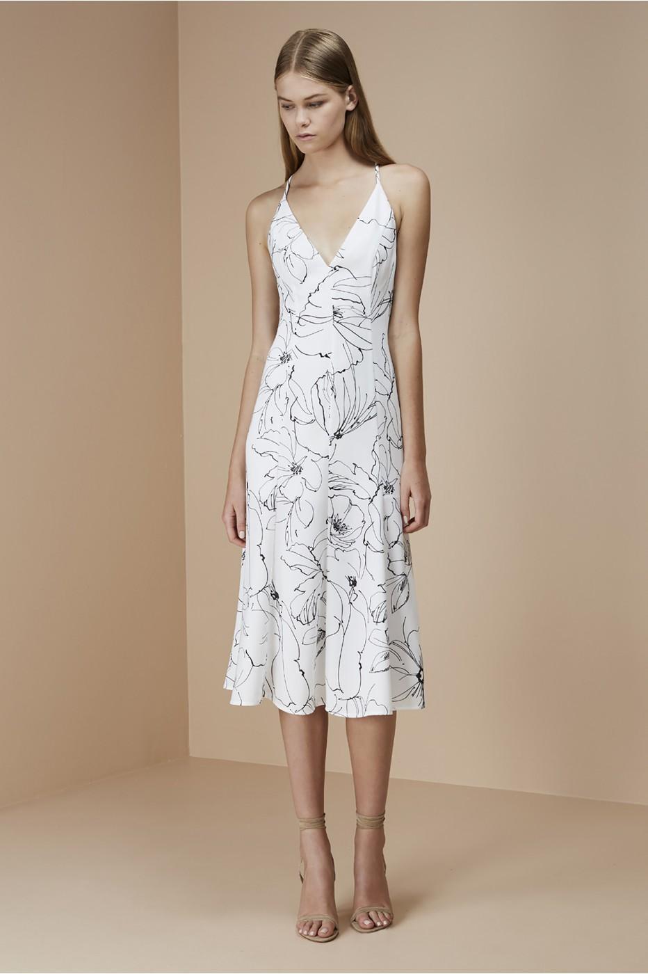 Lyst - Keepsake Heat Wave Dress in White 84224e71c